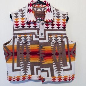 Pendleton Navajo Aztec Tribal Vest Made in USA